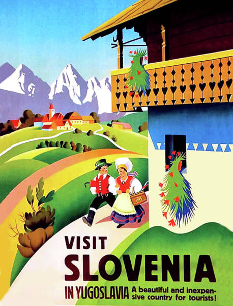 Hiking Digital Art - Visit Slovenia, Yugoslavia by Long Shot