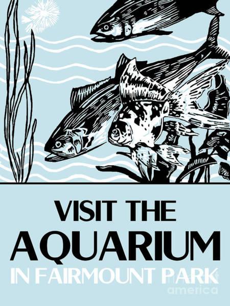 Drawing - Visit The Aquarium by Aapshop