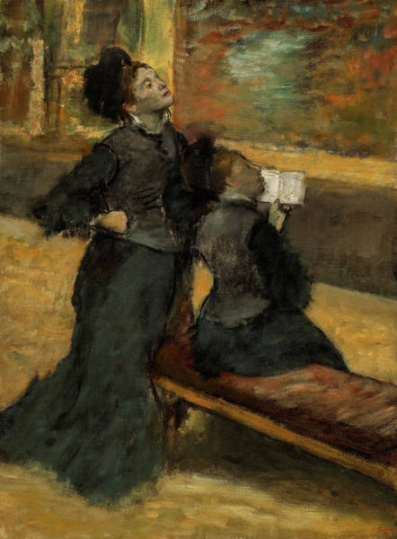 Wall Art - Painting - Visit To A Museum, 1890 by Edgar Degas