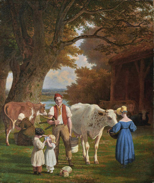 Painting - Visit To The Farm by Jacques-Laurent Agasse