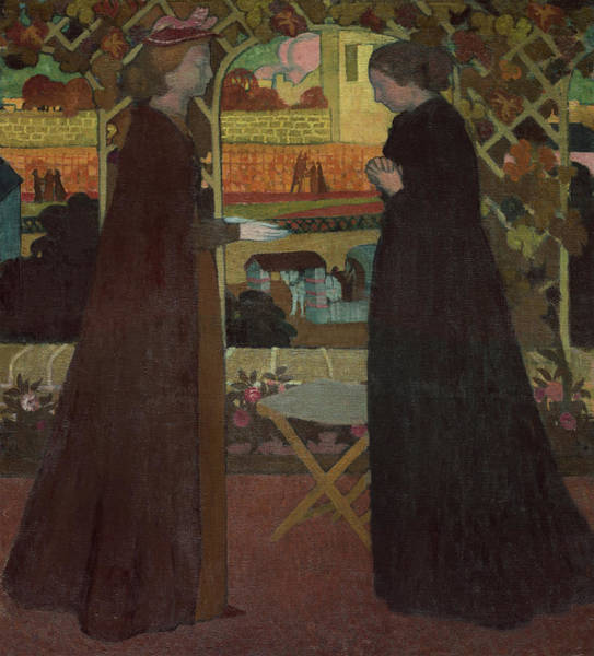 The Clash Wall Art - Painting - Visitation, 1894 by Maurice Denis