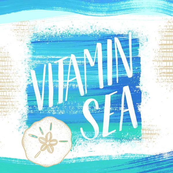 Painting - Vitamin Sea Sand Dollar Coastal Art by Jen Montgomery