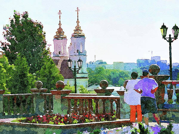 City Scape Digital Art - Vitebsk Sunny Day For Watercolor 2 by Yury Malkov