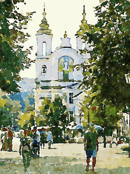 City Scape Digital Art - Vitebsk Sunny Day For Watercolor 3 by Yury Malkov