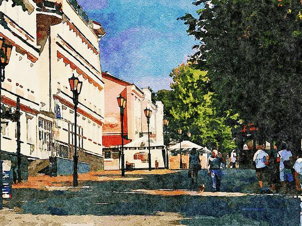City Scape Digital Art - Vitebsk Watercolor Sightseeing 1 by Yury Malkov