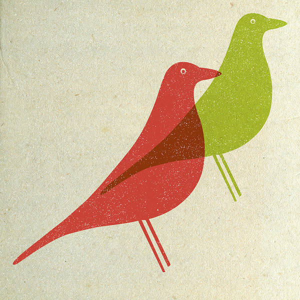 Wall Art - Digital Art - Vitra Eames House Birds I by Naxart Studio