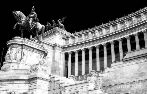 Photograph - Vittorio Emanuele At The Altare Della Patria Rome by John Rizzuto