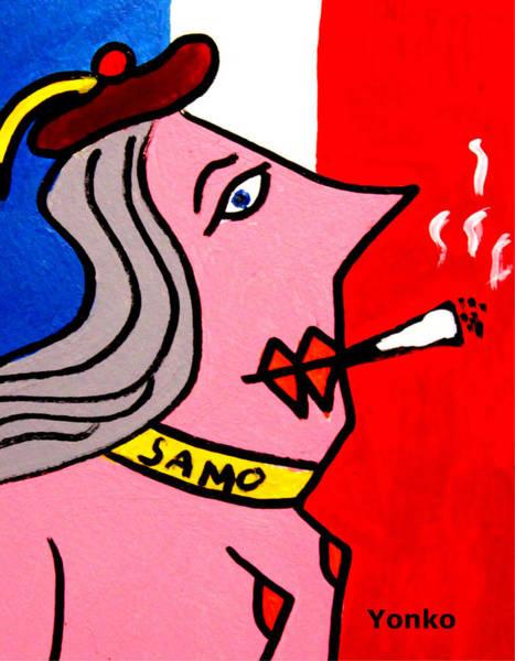 Vive La France Wall Art - Painting - Vive La France by Yonko Kuchera
