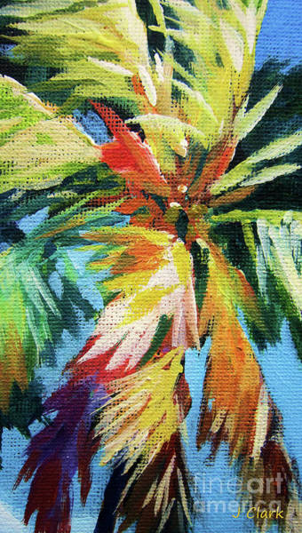 Brac Painting - Vivid Palm by John Clark