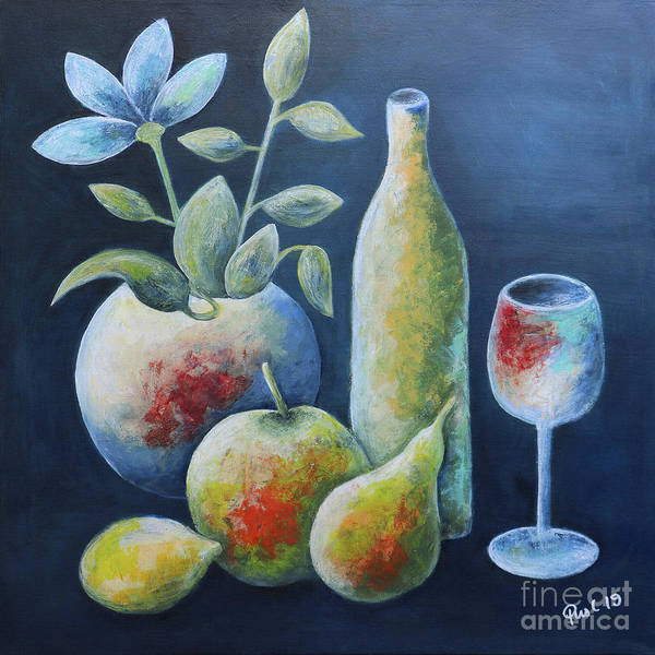 Wall Art - Painting - Vivid Still Life by Jutta Maria Pusl