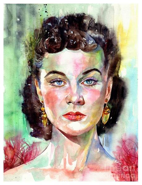 Ophelia Painting - Vivien Leigh Portrait by Suzann's Art