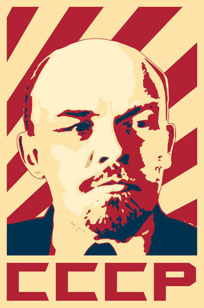 Wall Art - Digital Art - Vladimir Lenin Retro Propaganda by Filip Hellman