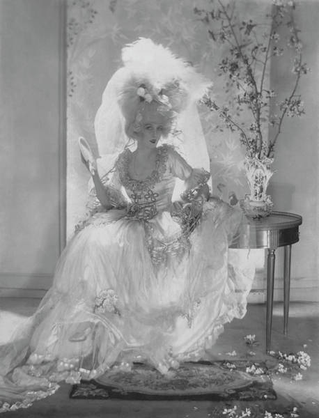 Dress Photograph - Vogue 1920 by Adolph De Meyer