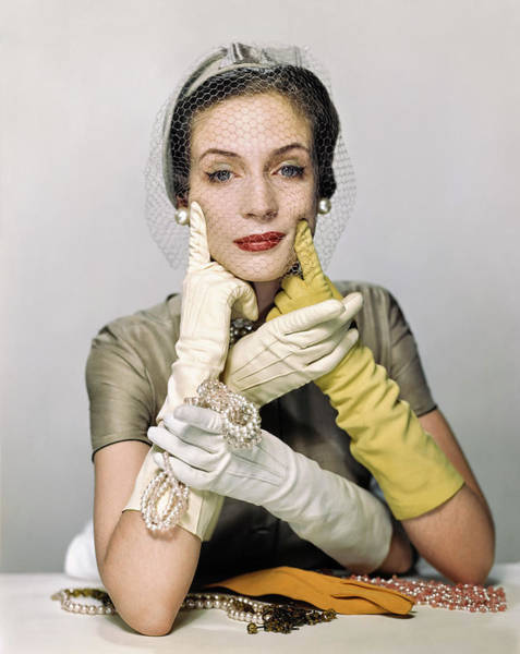 Photograph - Vogue 1950 by Erwin Blumenfeld