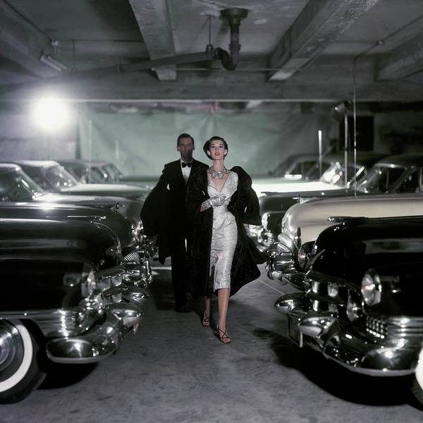 Parking Garage Photograph - Vogue 1952 by John Rawlings