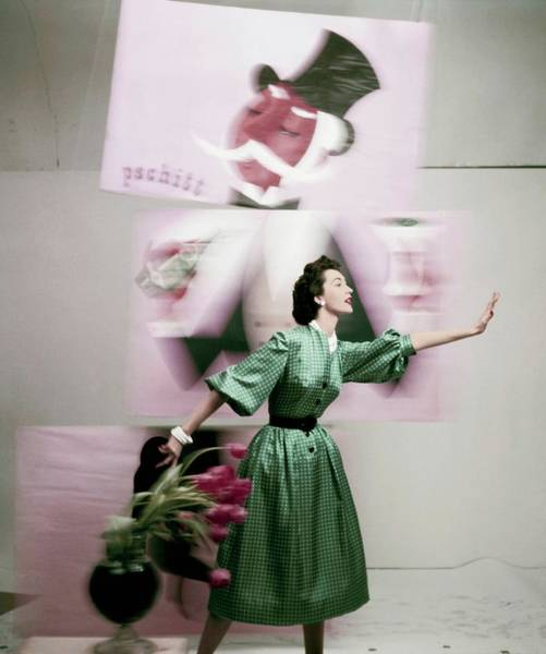 Fashion Model Photograph - Vogue 1952 by Richard Rutledge