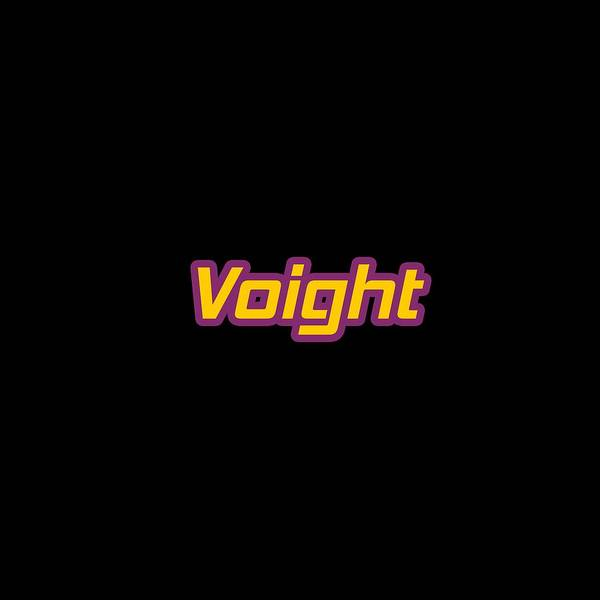 Wall Art - Digital Art - Voight #voight by TintoDesigns
