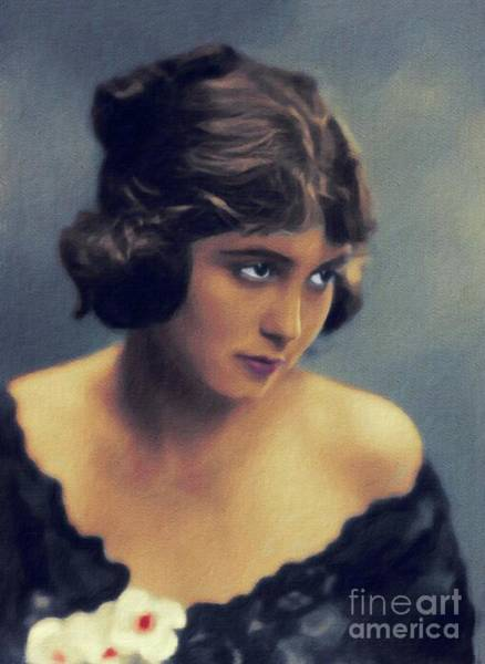 Wall Art - Painting - Vola Vale, Vintage Actress by John Springfield