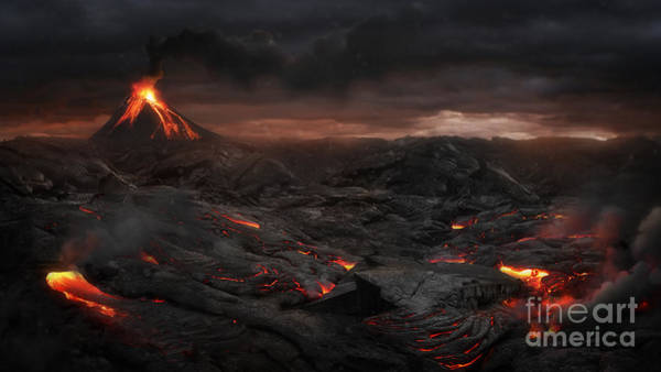 Burning Wall Art - Photograph - Volcanic Landscape by Jagoush