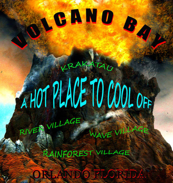 Wall Art - Mixed Media - Volcano Bay Poster Design One by David Lee Thompson