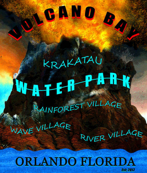 Wall Art - Mixed Media - Volcano Bay Poster Work A 2017 by David Lee Thompson
