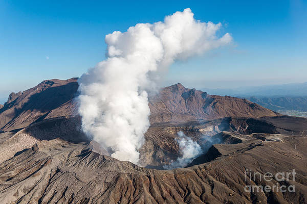 Volcanic Craters Photograph - Volcano, Kyushu, Mount Aso, Beautiful by Gnoparus