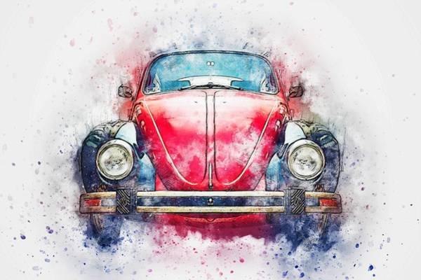 Wall Art - Painting - Volkswagen Beetle Type1 by ArtMarketJapan