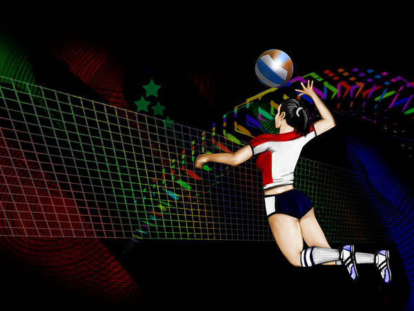 Volley Painting - Volley Ball by Jaime Enriquez