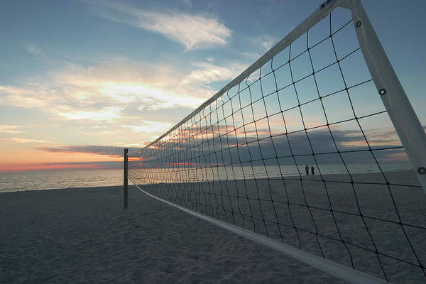 Photograph - Volleyball Net Venice Beach, Venice by Myloupe/uig