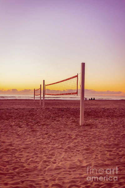 Photograph - Volleyball Nets Sunset On Mission Beach by Edward Fielding