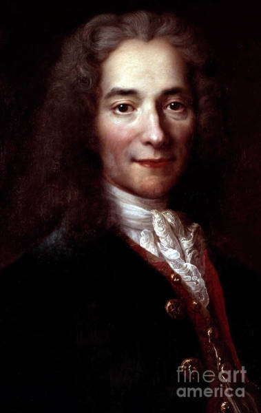 Wall Art - Painting - Voltaire, Copy After Painting By Nicolas De Largilliere  by Catherine Lusurier