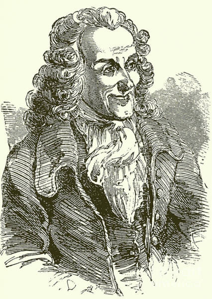 Wall Art - Drawing - Voltaire, Engraving by English School