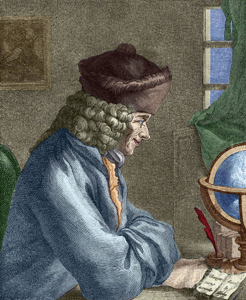 Wall Art - Painting - Voltaire In His Office In Vernay by French School