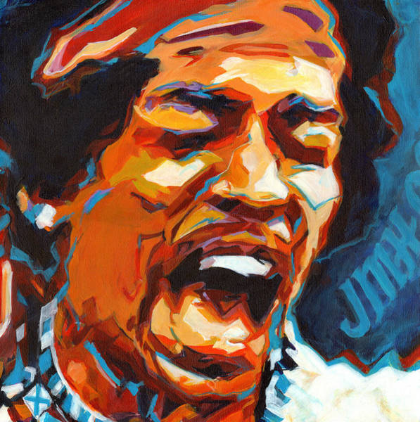 Painting - Voodoo Child - Jimi Hendrix In 1969 by Tanya Filichkin