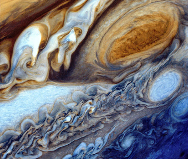 Flyby Photograph - Voyager 1's Beautiful Capture Of Jupiter's Great Red Spot by Nasa
