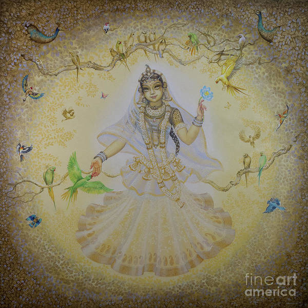 Wall Art - Painting - Vrinda Devi by Vrindavan Das