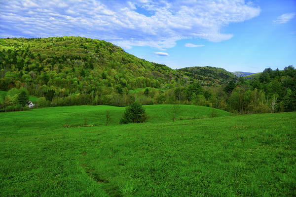 Photograph - Vt At With Farm House In The Valley by Raymond Salani III
