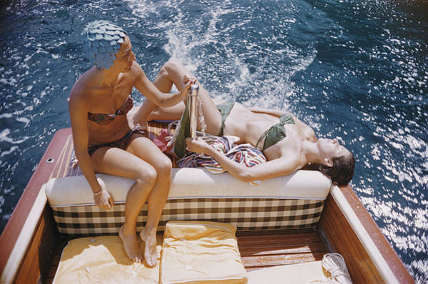 Swimming Photograph - Vuccino And Rava by Slim Aarons