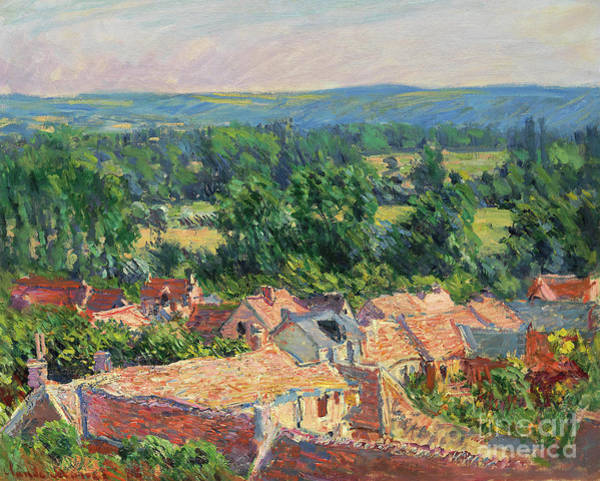 Wall Art - Painting - Vue Du Village De Giverny, 1886 by Claude Monet