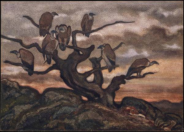 1875 Digital Art - Vultures On A Tree by Brahaman Dhumsi