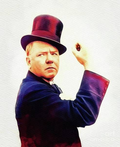 Wall Art - Painting - W. C. Fields, Vintage Actor by John Springfield