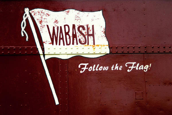 Wall Art - Photograph - Wabash Logo Caboose Sign by Paul W Faust - Impressions of Light