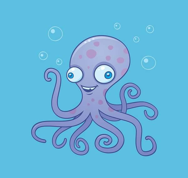 Tentacles Digital Art - Wacky Octopus by John Schwegel