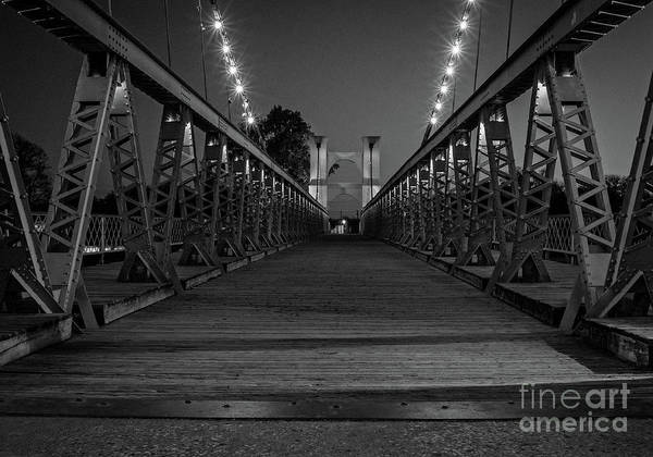 Wall Art - Photograph - Waco Suspension Bridge  by Imagery by Charly