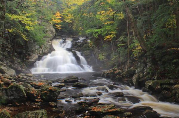 Wall Art - Photograph - Waconah Falls In Autumn by John Burk