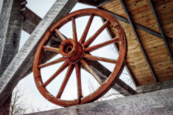 Kingsville Photograph - Wagon Wheel by Brian Wallace