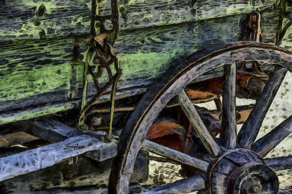 Photograph - Wagon Wheel On A Green Wagon by Floyd Snyder