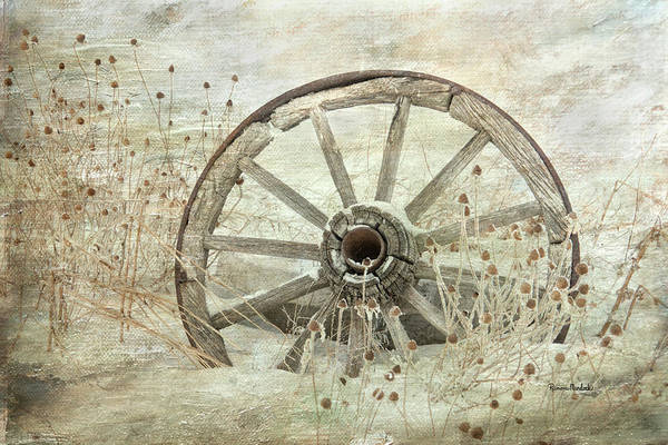 Digital Art - Wagon Wheel by Ramona Murdock