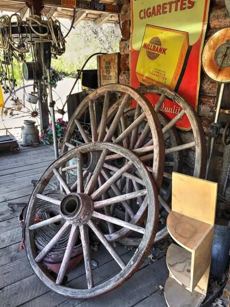 Photograph - Wagon Wheels by David Matthews