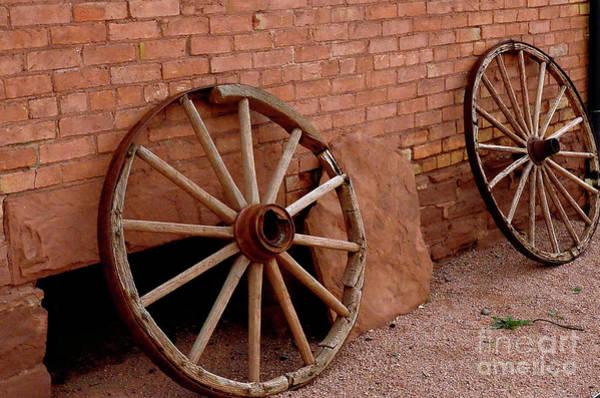 Wall Art - Photograph - Wagon Wheels by Debby Pueschel